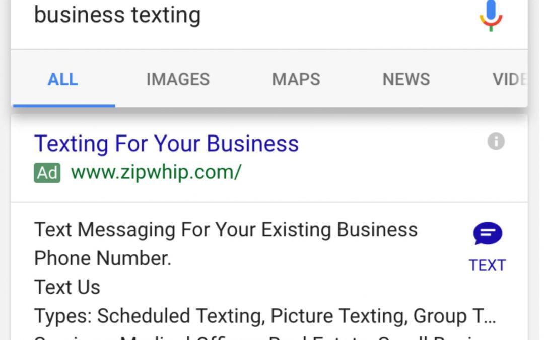 """""""Google"""" skelbimų naujiena: vietoj skambučio bus galimybė rašyti tekstinį pranešimą"""