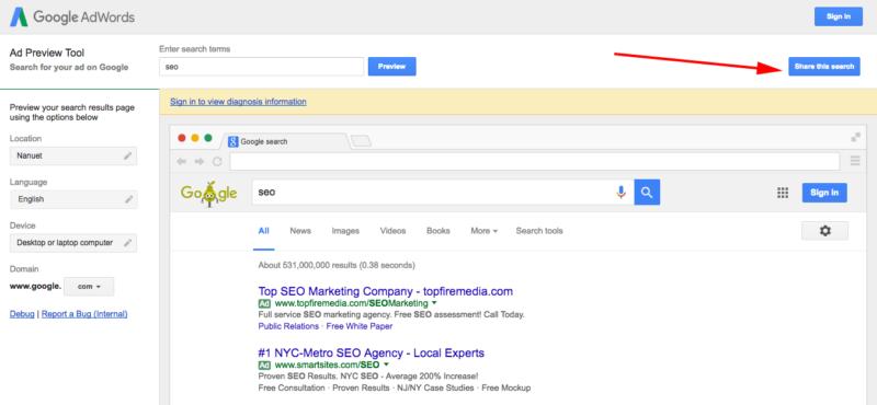 Google pristato naują Ad Preview įrankio funkciją