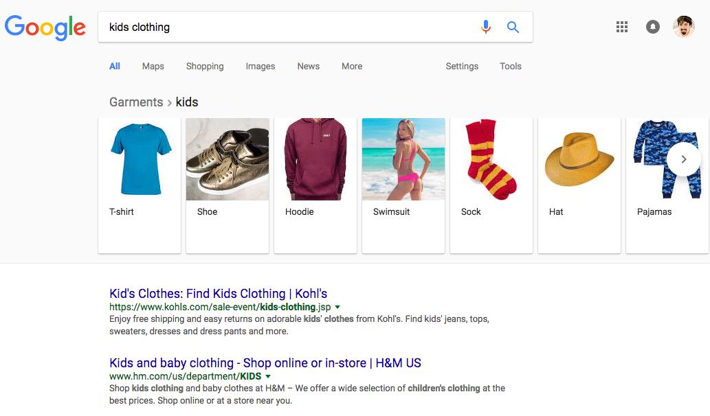 google filter cet